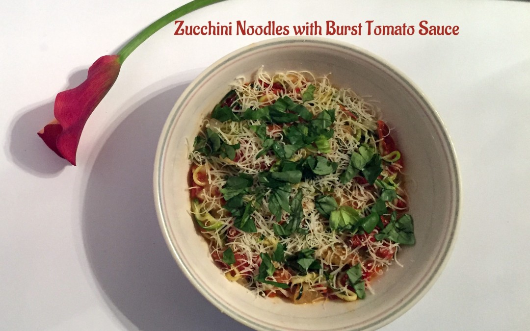 Zucchini Noodles with Roasted Cherry Tomato Sauce