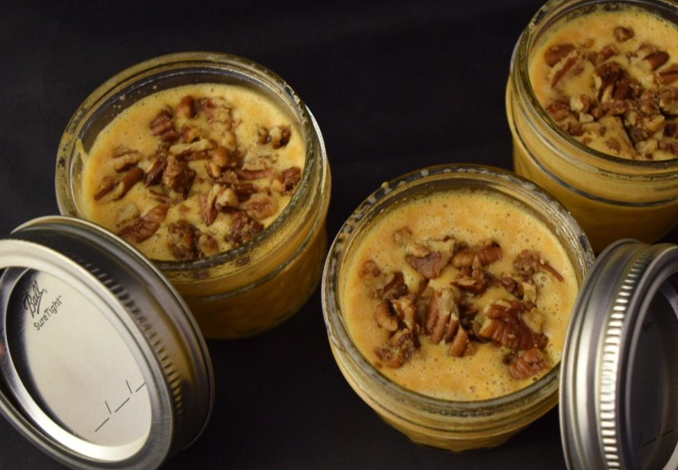 Sous Vide Pumpkin/Pecan pie in a jar